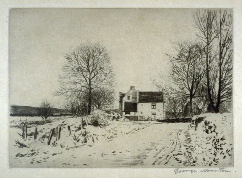 [winter landscape with a house]