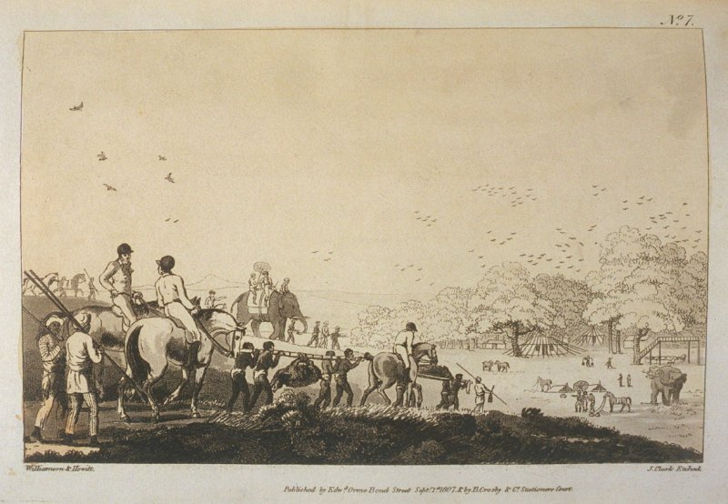 The Return from Hunting , pl. 7 in the book, Oriental Field Sports … (London: Edward Orme and B. Crosby and Co., 1808), vol. 1
