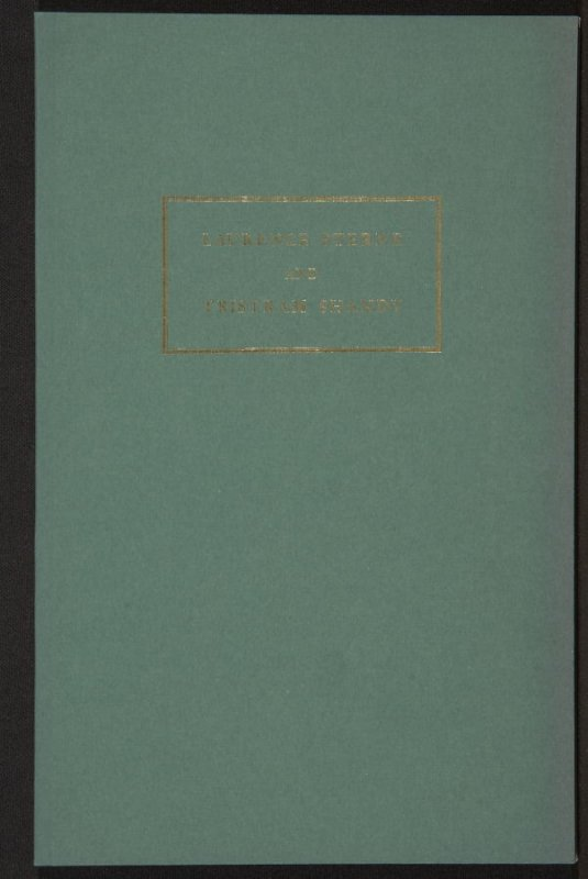 The Life and Opinions of Tristram Shandy, Gentleman by Laurence Sterne (San Francisco: Arion Press, 1988), volume 2, Essay by Melvyn New