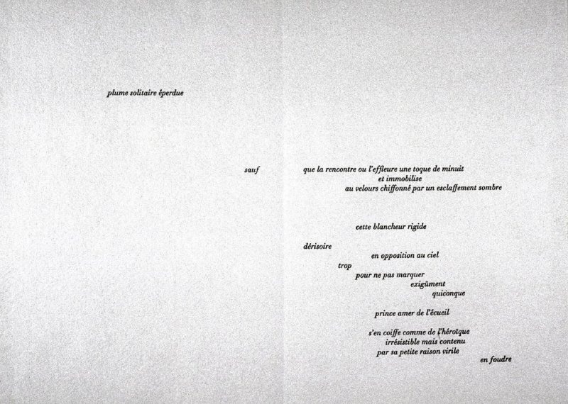 Pan Pipes by Theocritus, plate 2 in the portfolio Shaped Poetry (San Francisco: Arion Press, 1981)