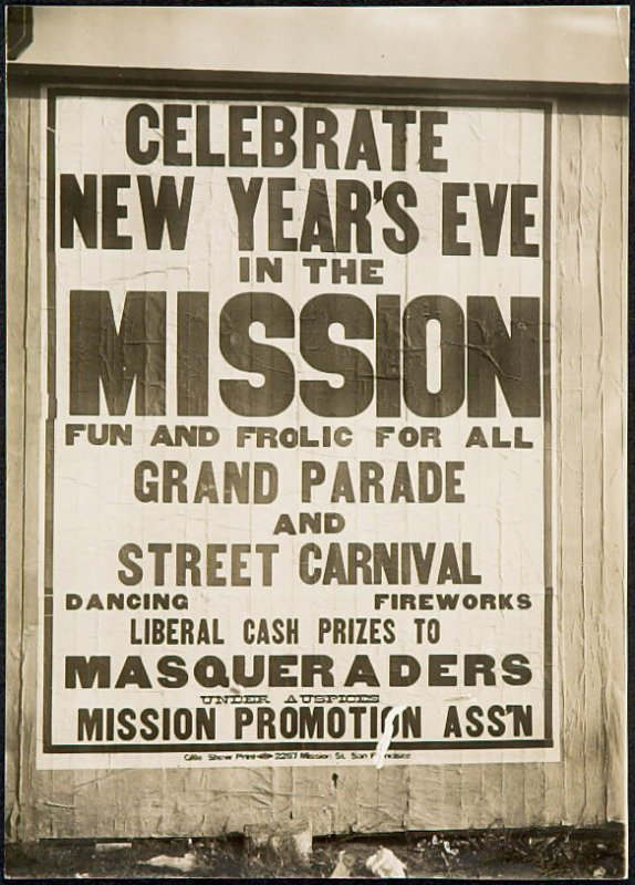 Celebrate New Year's Eve in the Mission Billboard