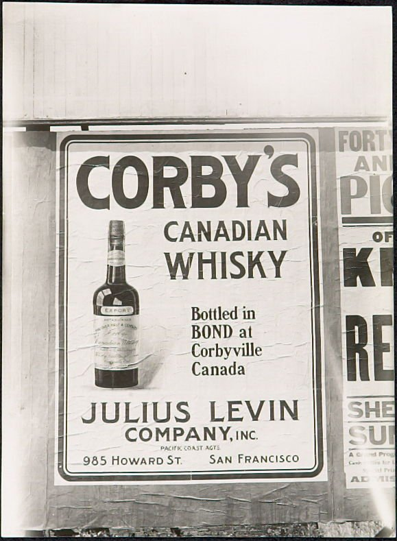 Corby's Canadian Whiskey Billboard