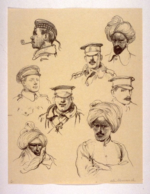 Types in the British Camp (Dec. 1914), number 12 from The War Sketches of Charles Huard