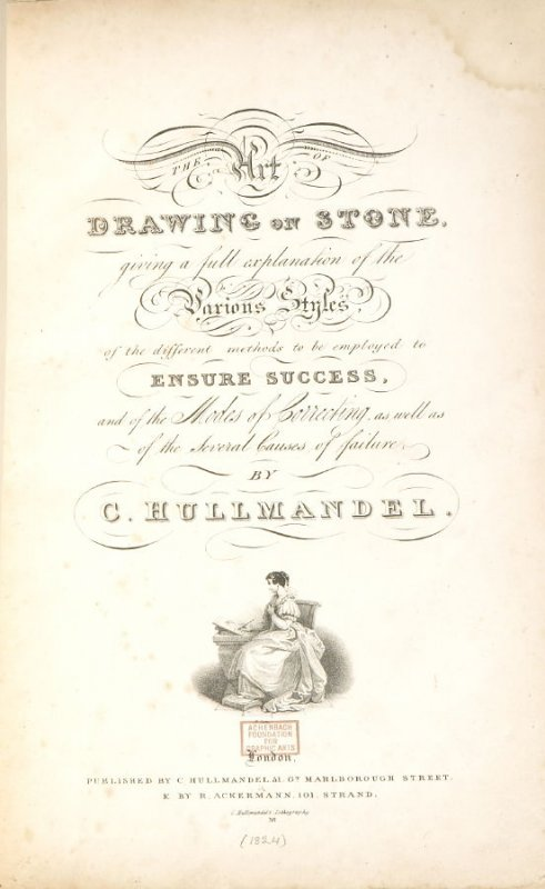 Title Page In The Book The Art Of Drawing On Stone London