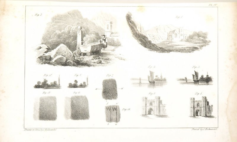 Pl. 4 in the book, The Art of Drawing on Stone (London: C. Hullmandel & R. Ackermann, [1824]