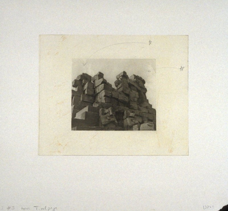 Working proof 9 for Photogravure title page from the portfolio, Temple Ruins