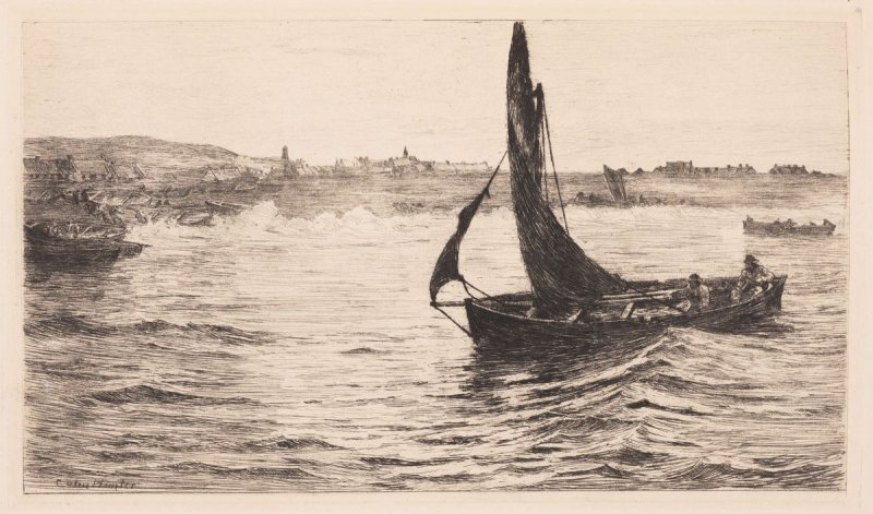 Running Ashore, plate 33 in the book, The Etcher (London: Sampson Low…, 1880), vol. 2 [bound in same volume as vol. 1, 1879]