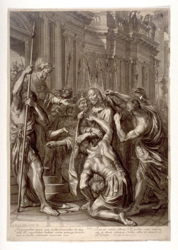 Christ Before Herod, plate 12 from The Passion of Christ