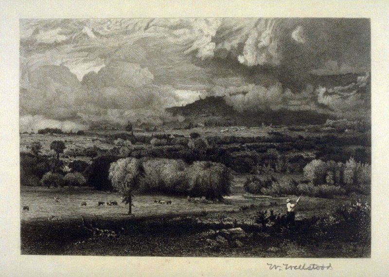 The Saco River Valley, plate 5 in the book, Choice Etchings (London: Alexander Strahan, 1887)