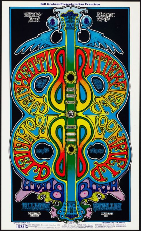 Butterfield Blues Band, Bloomfield & Friends, Birth, March 27 - 30, Fillmore Auditorium