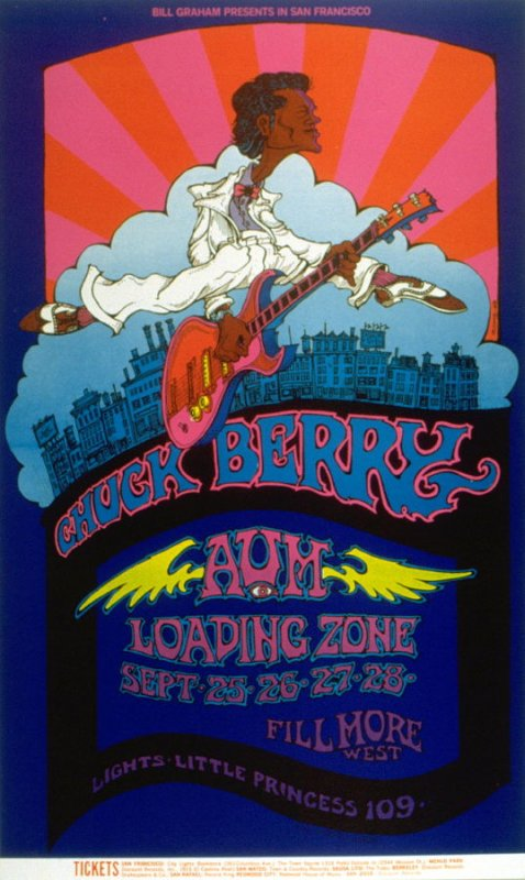 Chuck Berry, Aum, Loading Zone, September 25 - 28, Fillmore West