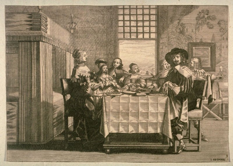 Dutch Family Seated at Table