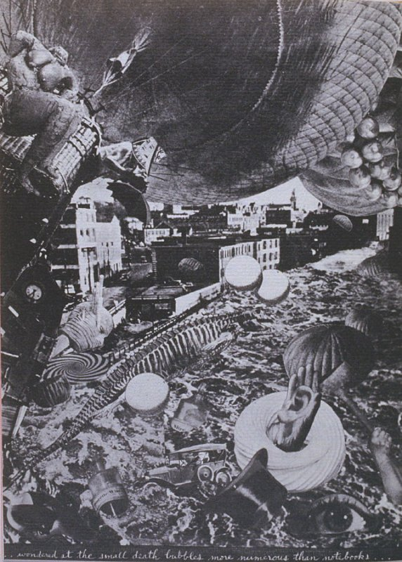 . wondered at the small death bubbles more numerous than notebooks, eleventh image in the book The Better Dream House (White Rabbit Press, 1968)