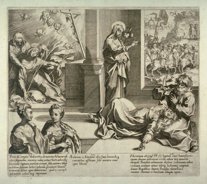 Scenes 22-24 from the life of St. Catherine of Siena
