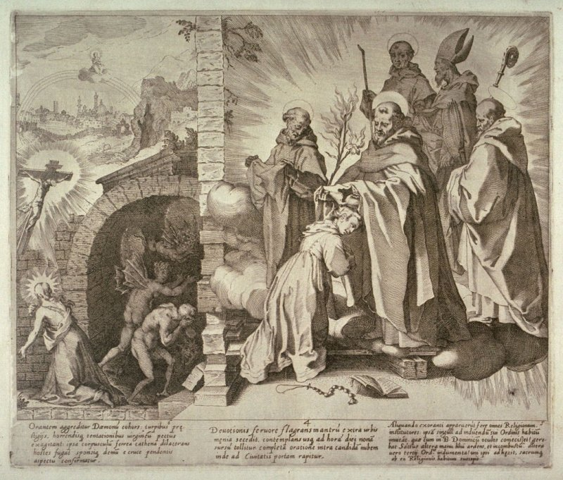 Scenes 4-6 from the life of St. Catherine of Siena