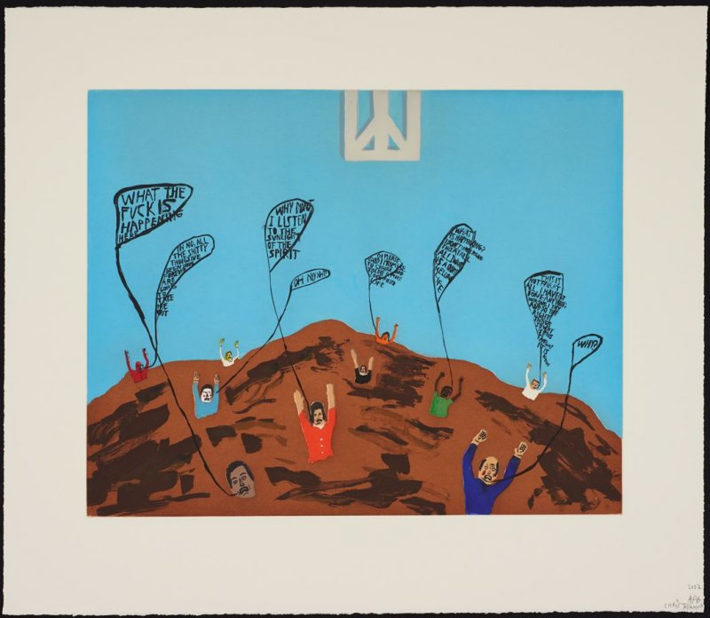 The Main Concept of This Conceptual Art is that Peace is Square