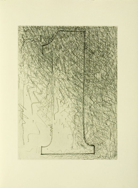 Untitled, illustration 1, in the book Foirades / Fizzles by Samuel Beckett (London and New York: Petersburg Press S. A., 1975-76)
