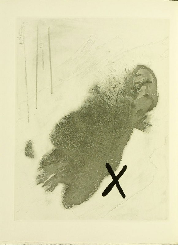 Untitled, illustration 2, in the book Foirades / Fizzles by Samuel Beckett (London and New York: Petersburg Press S. A., 1975-76)