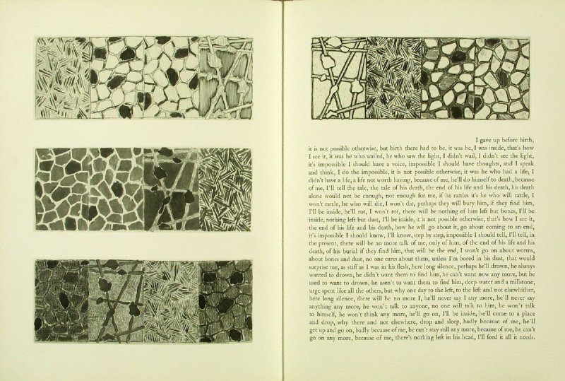 Untitled, illustration 5, in the book Foirades / Fizzles by Samuel Beckett (London and New York: Petersburg Press S. A., 1975-76)
