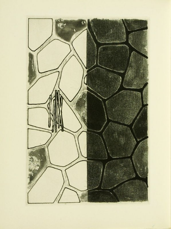 Untitled, illustration 16, in the book Foirades / Fizzles by Samuel Beckett (London and New York: Petersburg Press S. A., 1975-76)