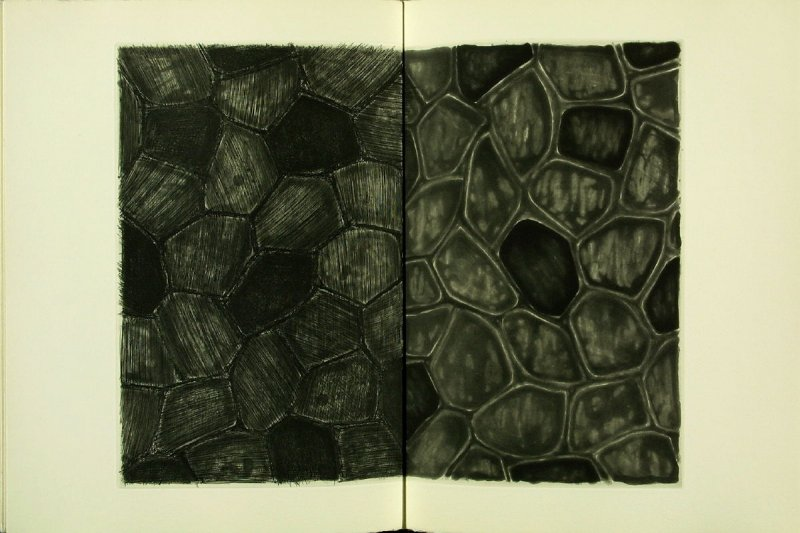 Untitled, illustration 25, in the book Foirades / Fizzles by Samuel Beckett (London and New York: Petersburg Press S. A., 1975-76)