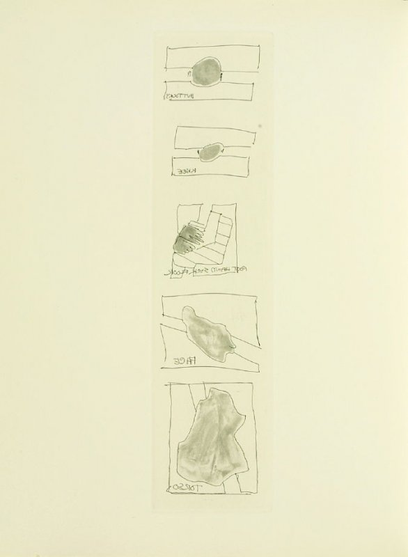 Untitled, illustration 26, in the book Foirades / Fizzles by Samuel Beckett (London and New York: Petersburg Press S. A., 1975-76)