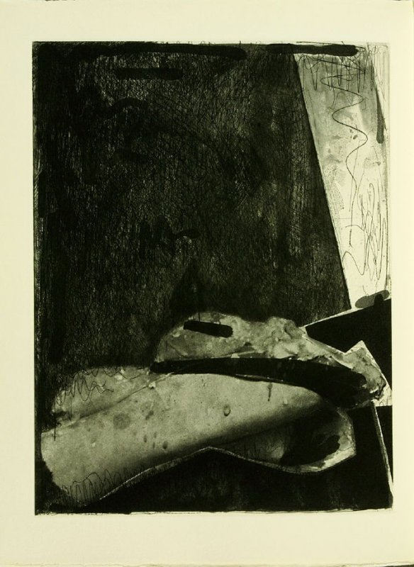 Untitled, illustration 29, in the book Foirades / Fizzles by Samuel Beckett (London and New York: Petersburg Press S. A., 1975-76)