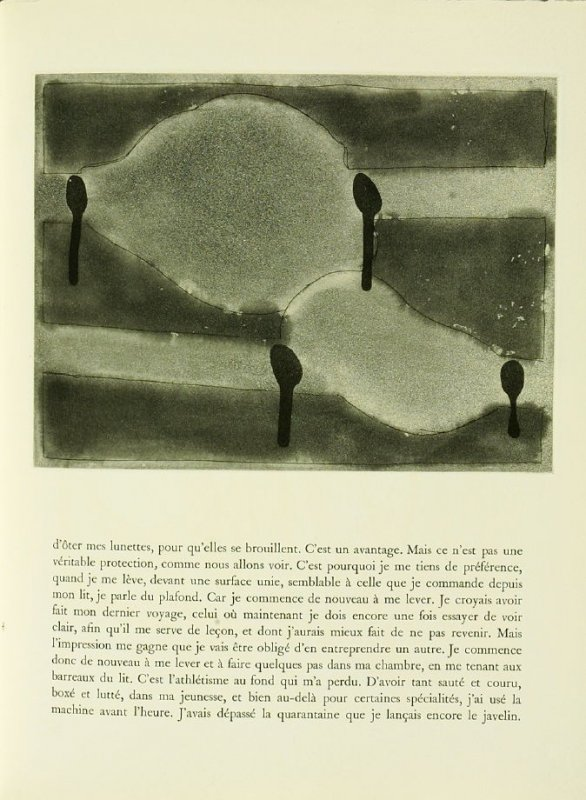 Untitled, illustration 31, in the book Foirades / Fizzles by Samuel Beckett (London and New York: Petersburg Press S. A., 1975-76)