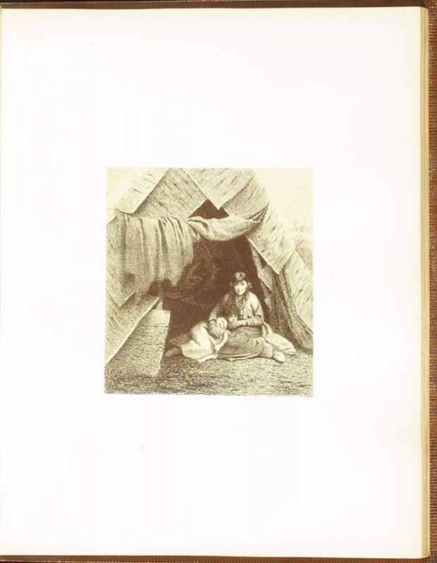 The Wigwam, accompanied by verses by Charles Sprague, sixth plate in the book Autograph Etchings by American Artists (New York: W. A. Townsend & Company, 1859)