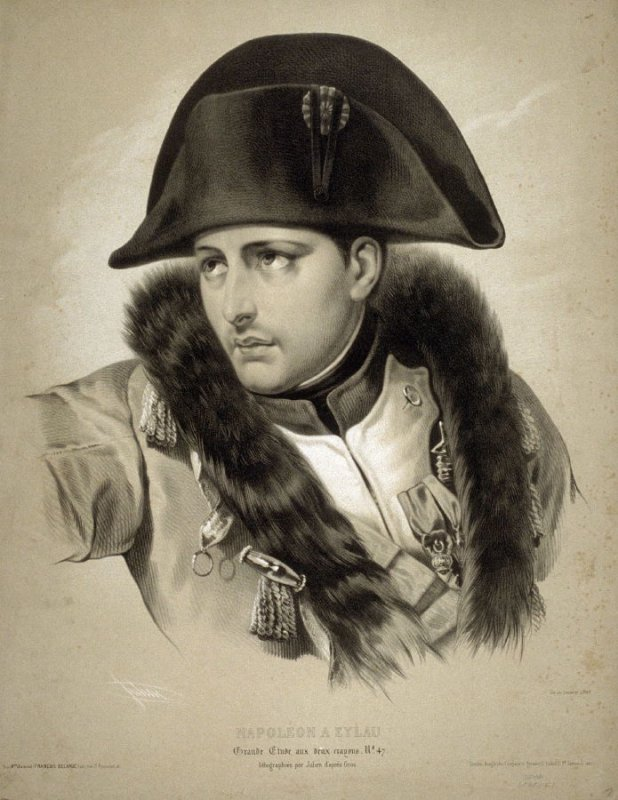 Napoleon A Eylau after a drawing by Gros
