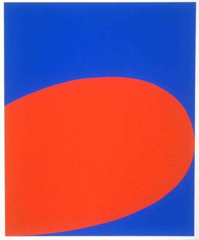Red/Blue (Untitled), third plate from the portfolio Ten Works x Ten Painters