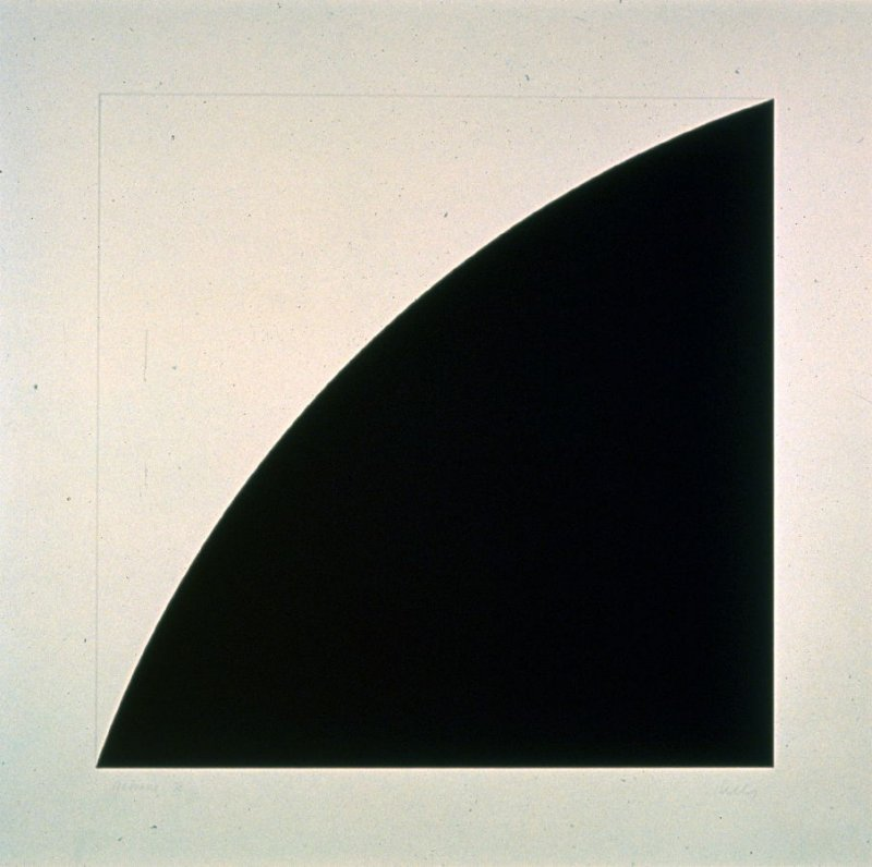 Black Curve I (White Curve I), from the First Curve Series