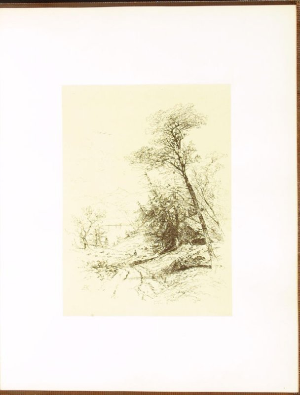 Autumn, accompanied by verses by J.R. Lowell, third plate in the book Autograph Etchings by American Artists (New York: W. A. Townsend & Company, 1859)