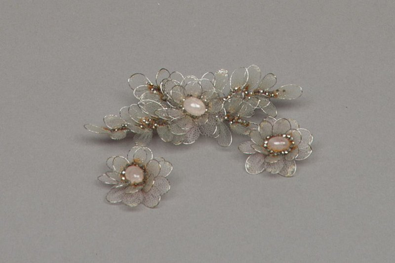 Brooch with earrings (?) - three pieces