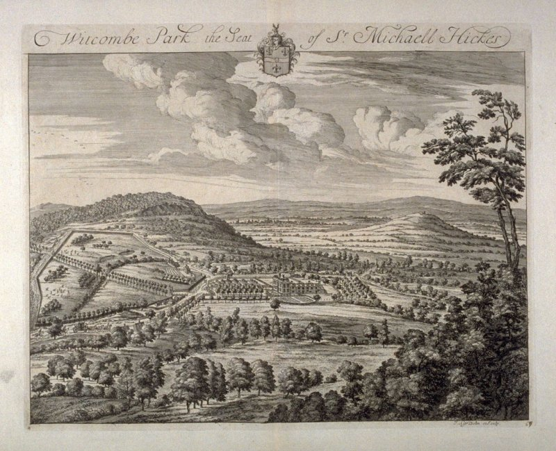 Witcombe Park, the Seat of Sir Michaell Hickes, illustration from the second volume of the series 'Britannia Illustrata'