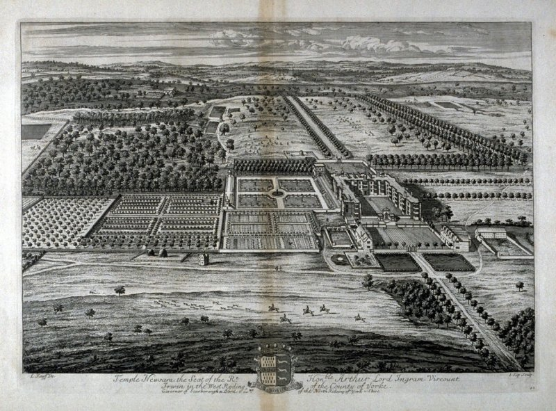 Plate 42: Temple Newsam, the Seat of the Right Honorable Arthur, Lord Ingram, Viscount, illustration to the series 'Britannia Illustrata'