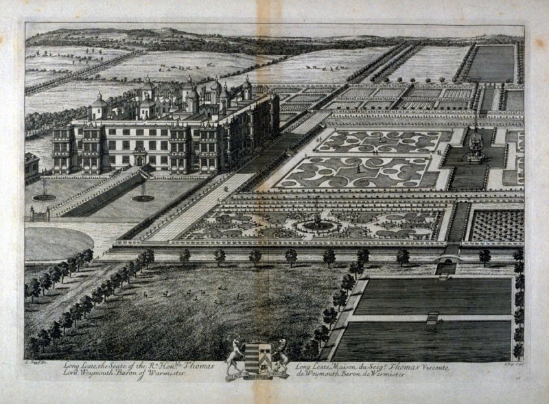 Plate 39: Long Leate, the Seat of the Rt. Hon. Thomas, Lord Weymouth Baron of Warmister, illustration to the series 'Britannia Illustrata'