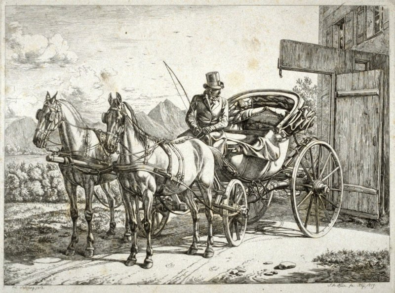 [Two-horse Cart with driver]