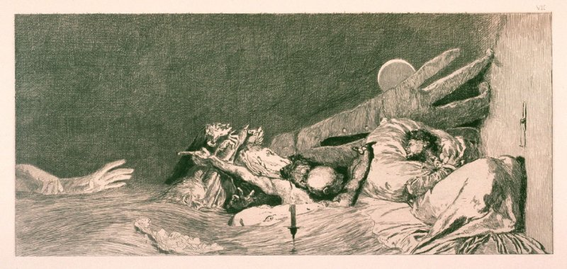 Angste (Anxieties), plate 7 from Ein Handschuh (A Glove)