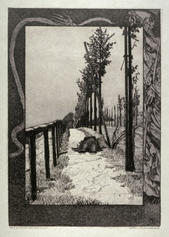 Chaussee (Road), plate 4 from Vom Tode, Erster Teil (On Death, Part 1)