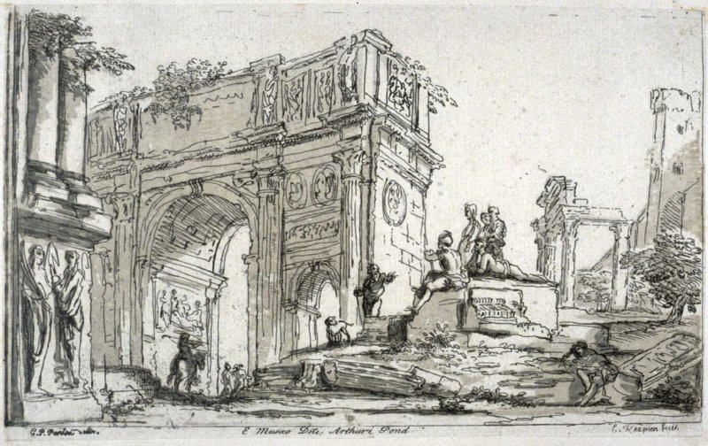 Arch of Constantine Rome, from the series 'Prints in Imitation of Drawings'