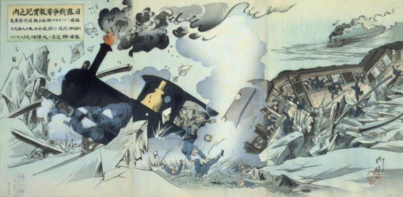 An Enemy Troop Train Falling through the Ice of Lake Baikal - from: Telegraphed Reports of the Russo- Japanese War, March 1904