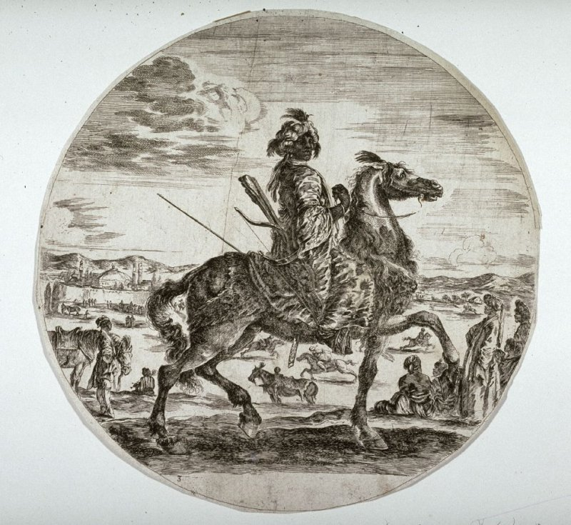 A Black Horseman, copy after the etching by Stefano Della Bella from the series Black, Polish and Hungarian Horseman