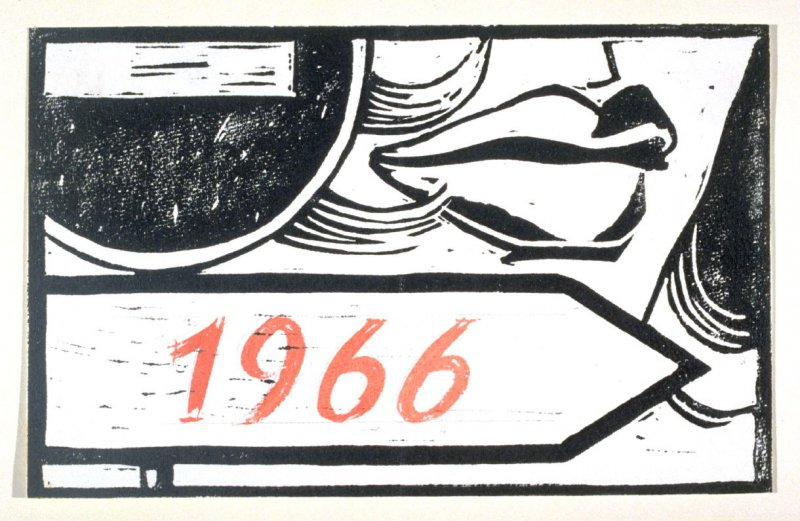 Greeting Card for 1966 New Year
