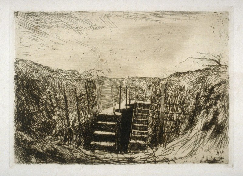 A Concrete Dug Out - #3 in the portfolio Pages of Glory and History, the 91st Division in Argonne and Flanders (Paris, New York, San Francisco: City of Paris, 1920)