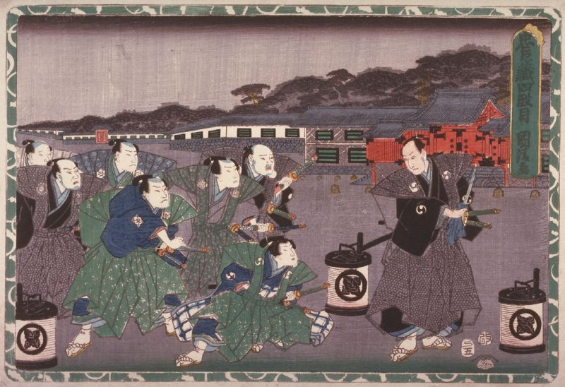 Act 4 from the Storehouse of Loyalty (Chushingura) (fourth image from a complete set of twelve)