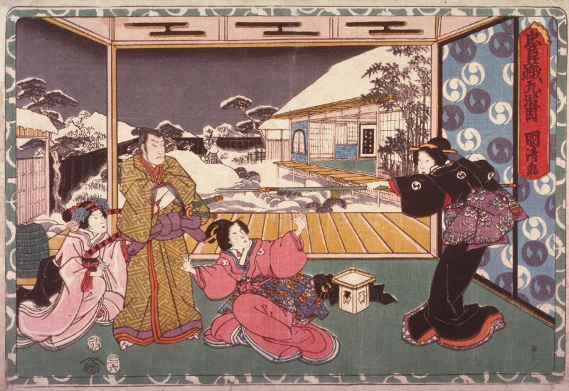 Act 9 from the Storehouse of Loyalty (Chushingura) (ninth image from a complete set of twelve)