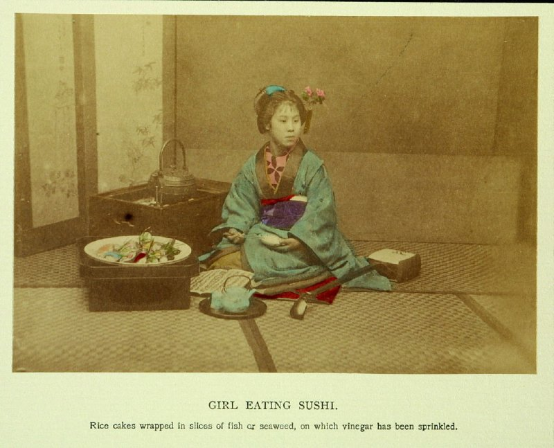 Girl Eating Sushi
