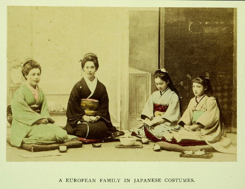 A European Family in Japanese Costumes