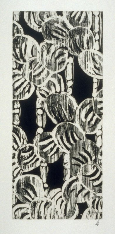 Bear Claws & Bamboo, plate 4 from the portfolio The Joy of Ornament (Oakland: Crown Point Press, 1980)